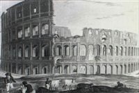 coliseum [&] 23 similar in a volume titled    `antiquities of rome' [med: w/ hand coloring] by henry abbot